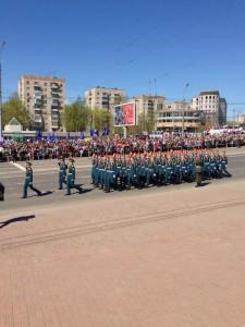Идут военнослужащие Ивановского гарнизона.2