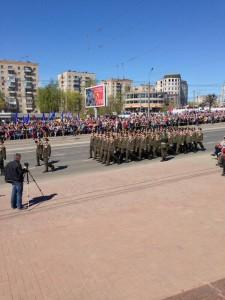 Идут военнослужащие Ивановского гарнизона.3