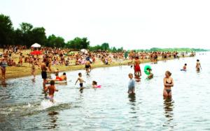 лето купание дети вода