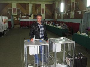 Идет голосование на избирательном участке №539