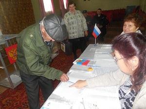 Идет голосование на избирательном участке №548