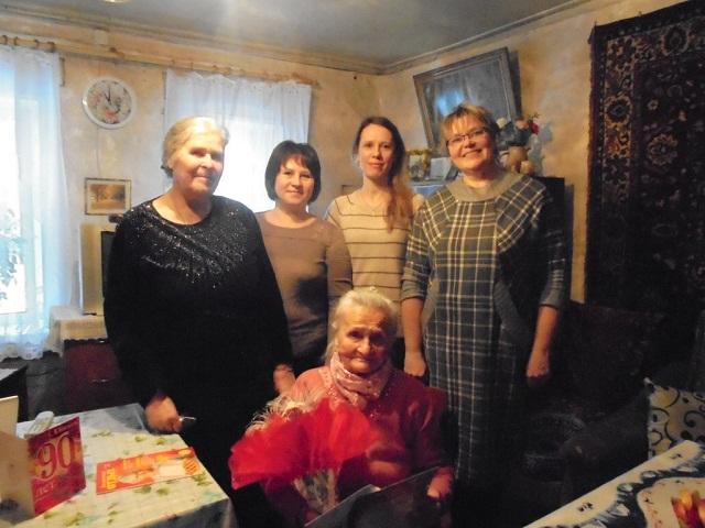 90-летний юбилей Елизавета Ивановна Жеглова