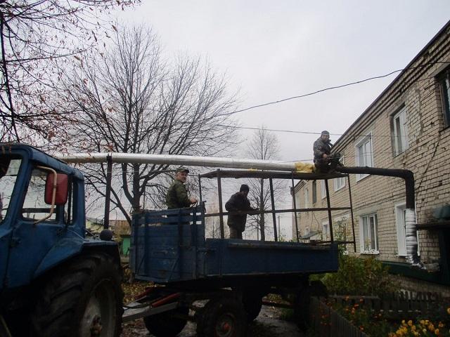 ООО «Теплосервис» замена 23м теплоизоляции на участке теплотрассы в д. Городок Лухского р-на