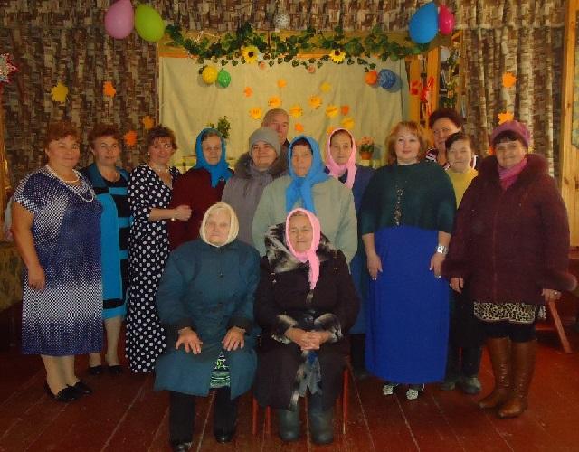 Участники художественной самодеятельности д. Слободки с визитом в д. Федотиха