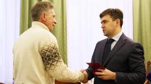 Глава региона вручил Владимиру Галочкину знак «За заслуги перед Ивановской областью»