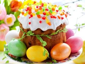 пасха кулич яйца