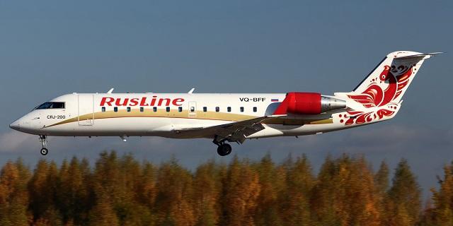 авиакомпания «РусЛайн» самолет