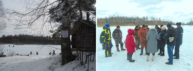 проведено патрулирование в месте выхода на лед водных объектов для рыбной ловли