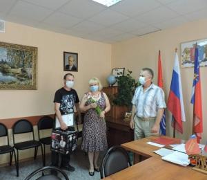 награждение семьи Чевакиных Евгения и Елены