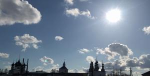 солнце облака